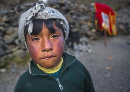 Young Peruvian Boy, Qoyllur Riti Festival, Ocongate Cuzco, Peru
