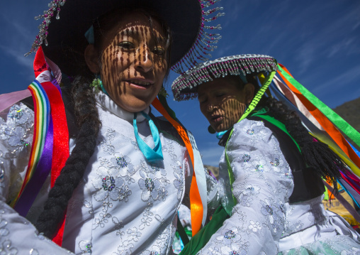 Qulla Dancers At Qoyllur Riti Festival, Ocongate Cuzco, Peru