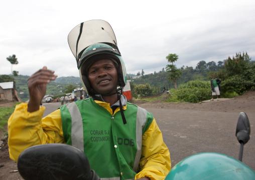 Taxi moto man in kigali - rwanda