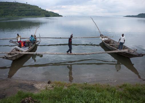 Traditional boats, Lake Kivu, Gisenye, Rwanda