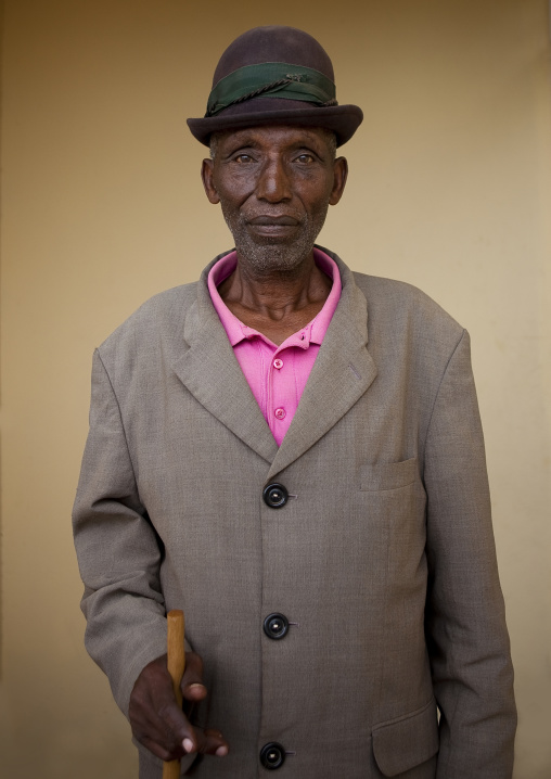 Old man in karongi village - rwanda