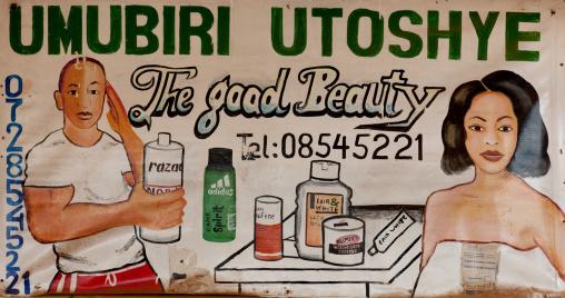 Beauty shop mural, Kigali Province, Kigali, Rwanda