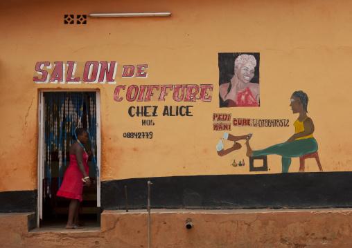 Hairdress saloon in kigali muslim quarter - rwanda