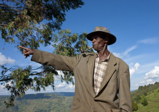 Man on shorongo hills - rwanda