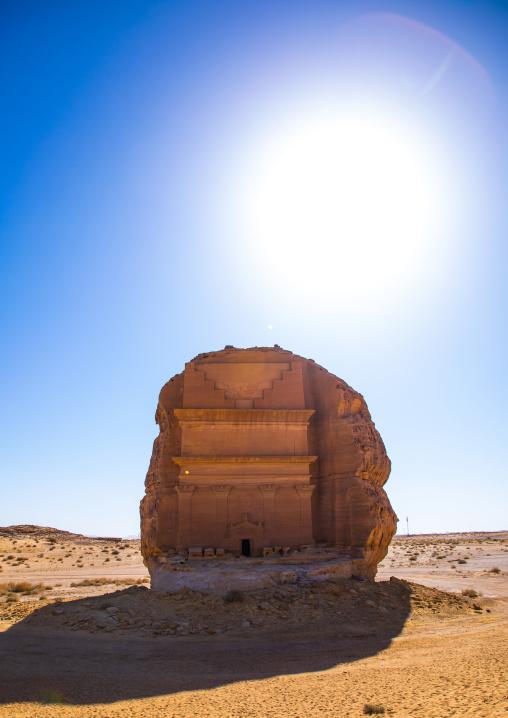 Qasr al-Farid tomb of Lihyan son of Kuza in Madain Saleh, Al Madinah Province, Alula, Saudi Arabia