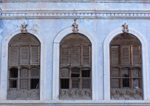 Al Kateb house windows, Mecca province, Taïf, Saudi Arabia