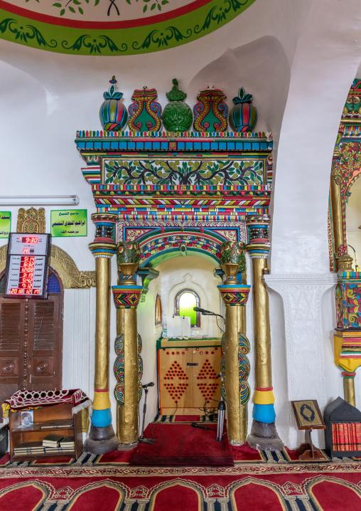 Inside al Nadji mosque, Red Sea, Farasan, Saudi Arabia