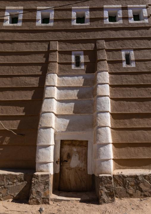 Traditional mud house entrance, Najran Province, Najran, Saudi Arabia