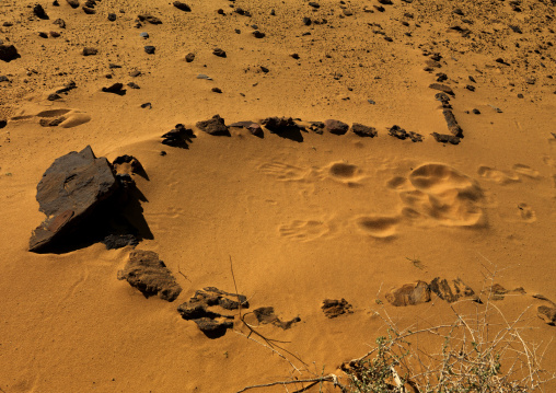 Mosque made with stones in the desert, Al Madinah Province, Alula, Saudi Arabia