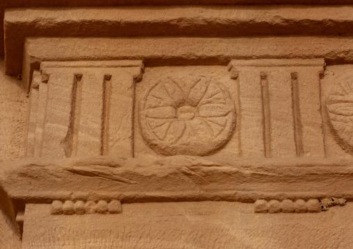Top of a nabataean tomb in madain saleh archaeologic site, Al Madinah Province, Al-Ula, Saudi Arabia