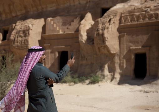 Portrait of a saudi man in Madain saleh, Al Madinah Province, Alula, Saudi Arabia