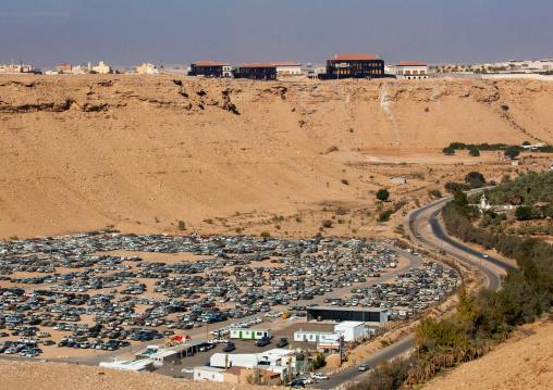 Car impound, Riyadh Province, Riyadh, Saudi Arabia