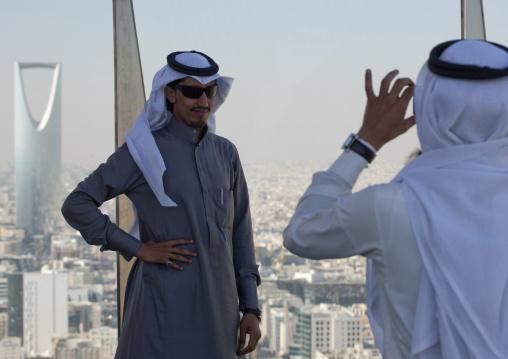 Saudi tourists taking pictures, Riyadh Province, Riyadh, Saudi Arabia