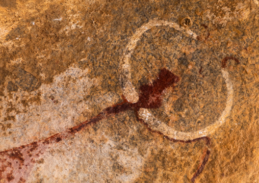 Cave paintings and petroglyphs depicting cow heads, Woqooyi Galbeed, Laas Geel, Somaliland