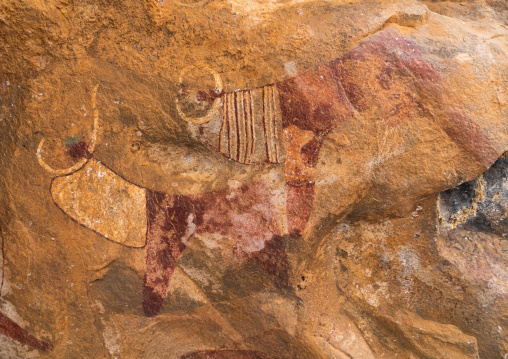 Cave paintings and petroglyphs depicting cows, Woqooyi Galbeed, Laas Geel, Somaliland
