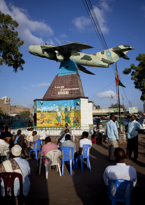 Fighter jet plane at the entrance of the war memorial museum in hargeisa, Somaliland