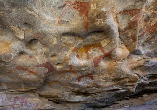 Laas geel rock art caves, Paintings depicting cows, Hargeisa, Somaliland