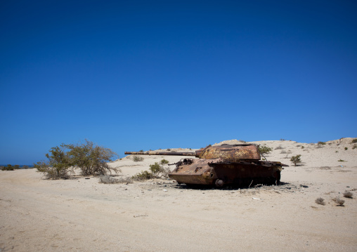An abandoned sovietic tank in the desert, Berbera, Somaliland