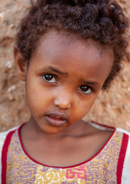 Portrait of a cute somali child girl, Woqooyi galbeed province, Baligubadle, Somaliland
