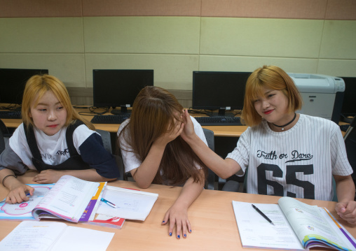North korean teens defectors in yeomyung school, National capital area, Seoul, South korea