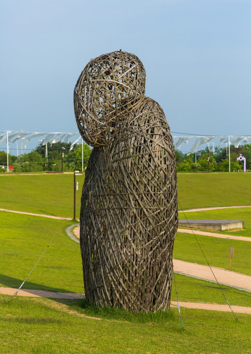 Bamboo statue in imjingak park, Sudogwon, Paju, South korea