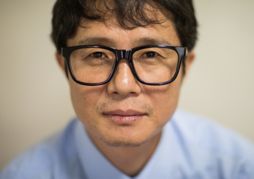 Portrait of a former north Korea propaganda artist called Song Byeok, National Capital Area, Seoul, South Korea