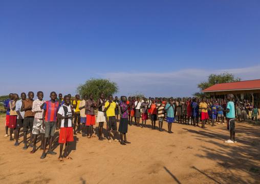 South sudanese pupils in a school, Boya Mountains, Imatong, South Sudan