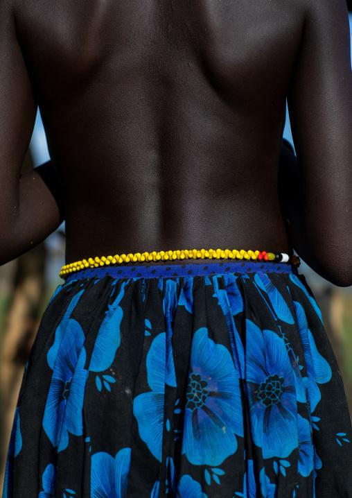Mundari tribe girl back, Central Equatoria, Terekeka, South Sudan