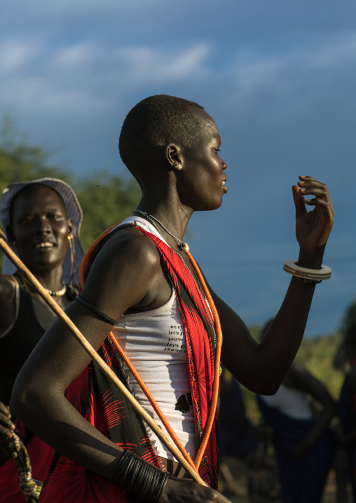 Mundari tribe woman celebrating a wedding, Central Equatoria, Terekeka, South Sudan
