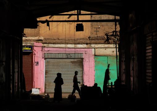 People silhouettes in the market, Khartoum State, Omdurman, Sudan
