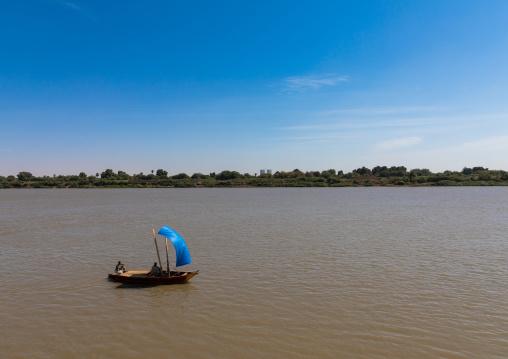 Small boat on river Nile, Khartoum State, Khartoum, Sudan