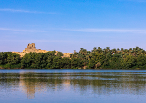 Ruins of an old ottoman fort overlooking river Nile, Northern State, El-Kurru, Sudan