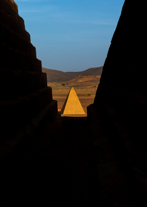Pyramids of the kushite rulers at Meroe, Northern State, Meroe, Sudan