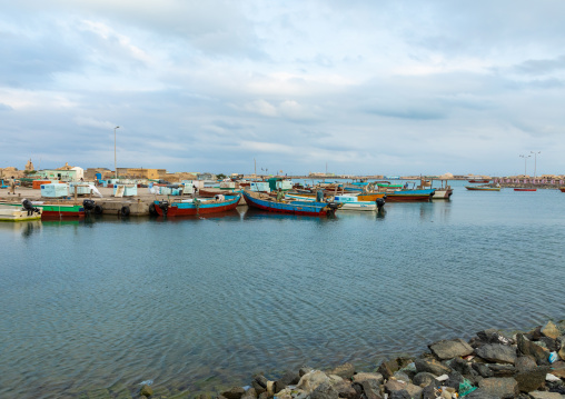 Fishing boats in the port, Red Sea State, Suakin, Sudan