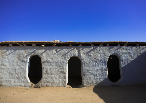 Sudan, Nubia, Tumbus, traditional nubian house