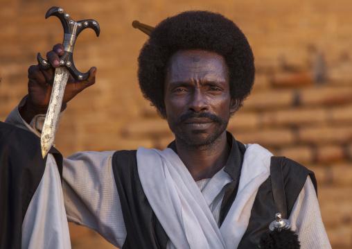 Sudan, Kassala State, Kassala, beja tribe man
