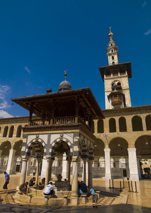 Umayyad Mosque courtyard, Damascus, Syria