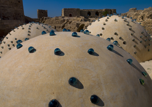 Baths Domes Inside The Aleppo Citadel,  Syria