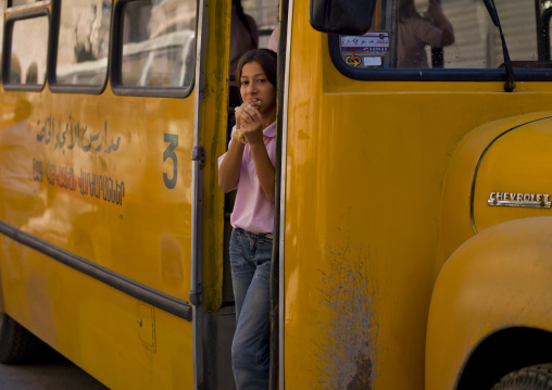Girl In A School Bus, Aleppo, Syria