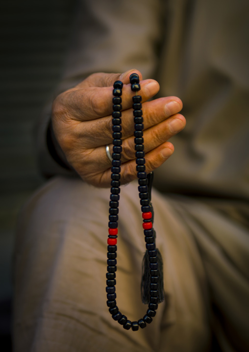 Syrian Man Holding Islamic Prayer Beads, Aleppo, Syria