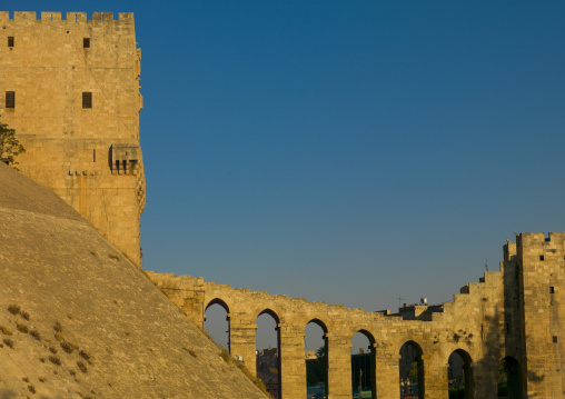 Bridge Leading To The Citadel, Aleppo, Syria