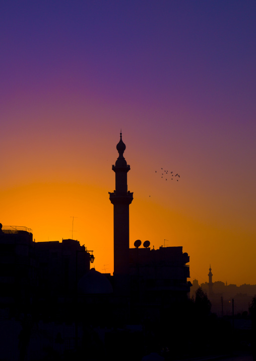 Minaret In The Sunset, Aleppo, Syria