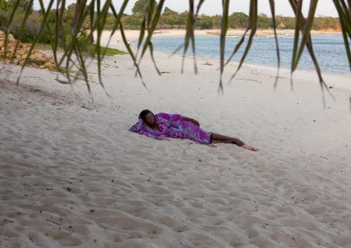Girl on kilwa masoko beach , Tanzania
