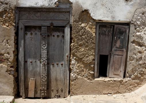 Old door in bagamoyo stone town, Tanzania