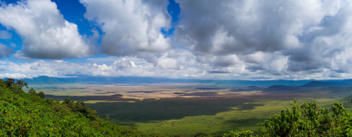Tanzania, Arusha Region, Ngorongoro Conservation Area, view of the crater