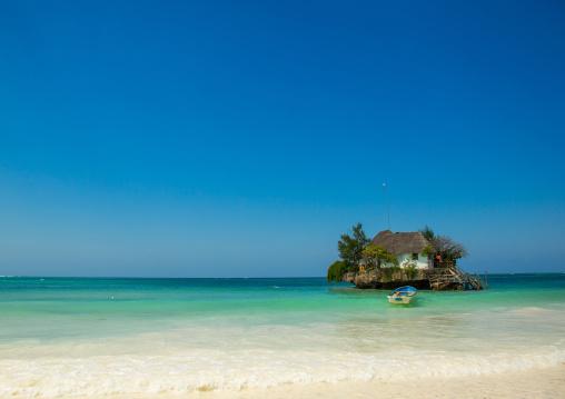 Tanzania, Zanzibar, Michanwi Pingwe, the rock restaurant on bwejuu beach