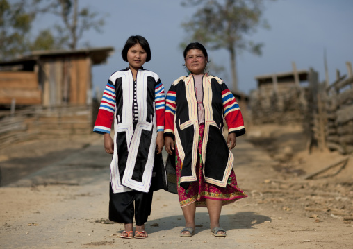 Lahu tribe mother and daughter, Thailand