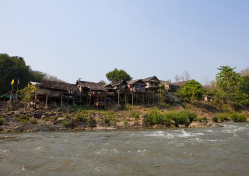 River in nam peang din village, North thailand