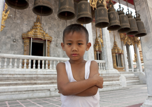 Bangkok kid in temple, Thailand