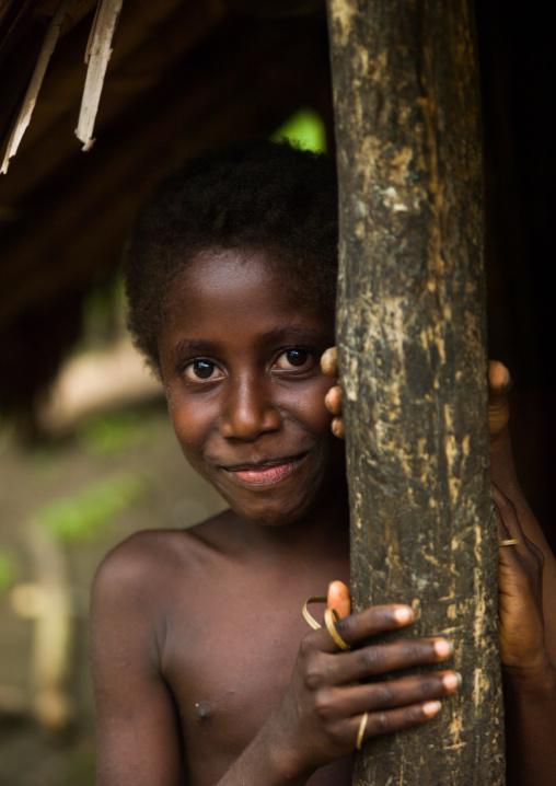 Portrait of a Ni-Vanuatu girl, Malampa Province, Malekula Island, Vanuatu